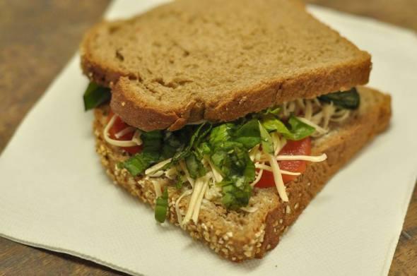 Basil Tomato Sandwich